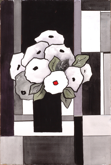 Painting Painting - Black And White Funny Flowers by Carrie Allbritton