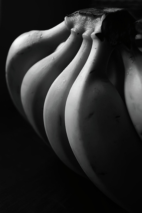 Vertical Photograph - Black And White Image Of Banana by By Ale_flamy