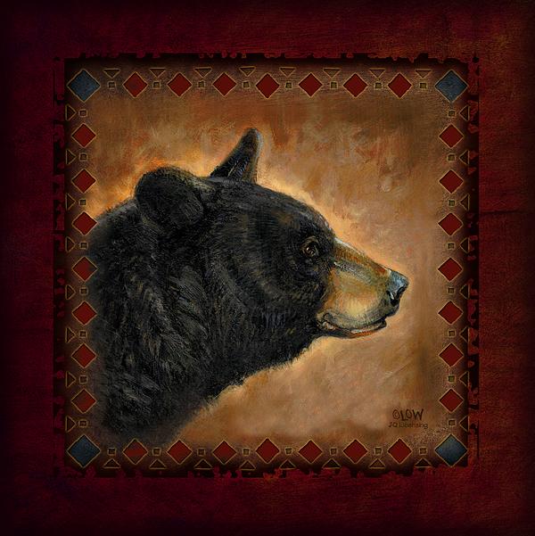 Wildlife Painting - Black Bear Lodge by JQ Licensing