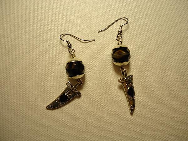 Black Earrings Photograph - Black Dagger Earrings by Jenna Green