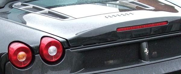 Car Photograph - Black Ferrari by Deborah Brewer