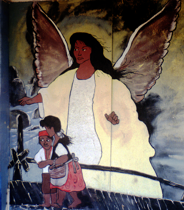 Louisiana Photograph - Black Guardian Angel Mural by Doug Duffey