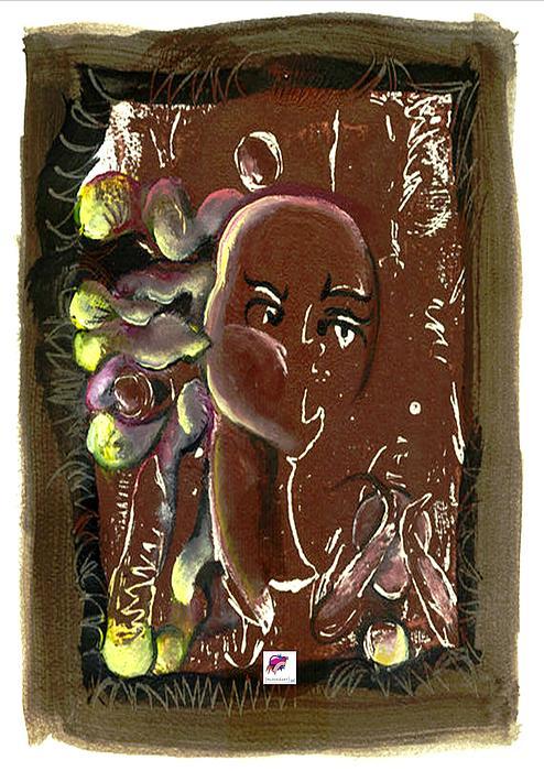 Mono Print Painting - Black Madonna And Child by Carol Rashawnna Williams