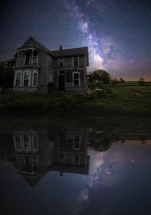 Dark Places Photograph - Black Mirror by Aaron J Groen