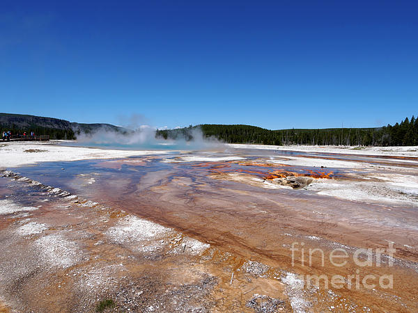 Runoff Photograph - Black Sand Basin In Yellowstone National Park by Louise Heusinkveld
