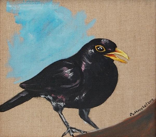 Black Bird Painting - Blackbird Singing  Blackbird by Jason DuMouchel