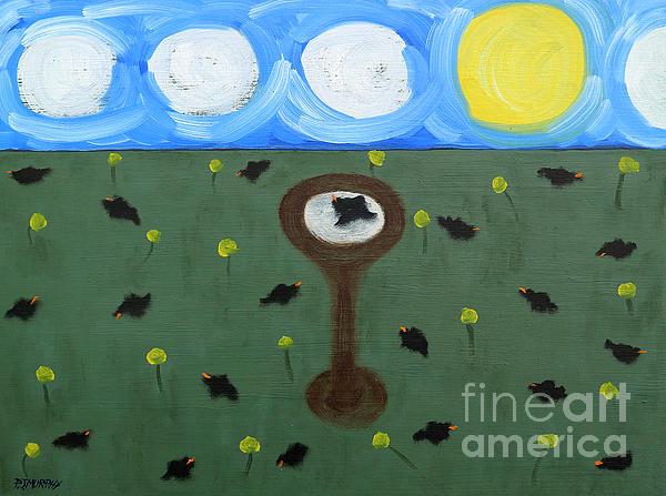 Animals Painting - Blackbirds by Patrick J Murphy