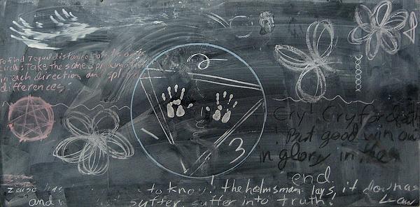 Chalkboard Drawing - Blackboard Science And Art II by Stephen Hawks