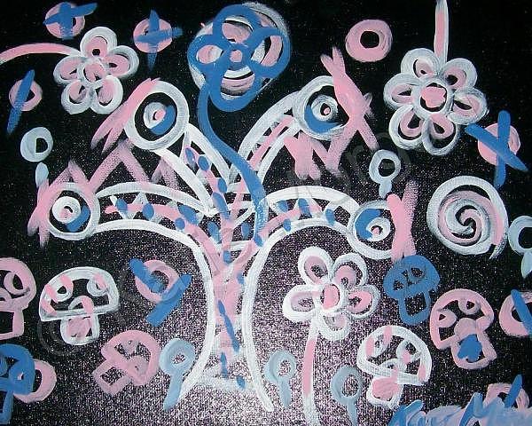 Tree Painting - Blackburried by Katie Morgan