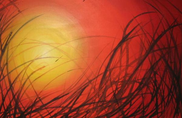 Sun Painting - Blades by Yasmin  Modi
