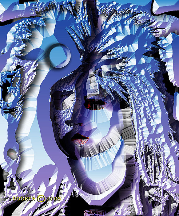 Jazz Mixed Media - Blau Magik by Booker Williams