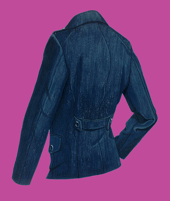 Fashion Design Painting - Blazer Back by Vlasta Smola