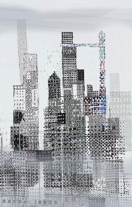 Urban Landscape Illustration Digital Art - Blip 2  by Andy  Mercer