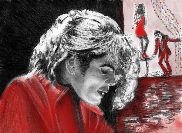 Michael Jackson Digital Art - Blood On The Dance Floor by Carliss Mora