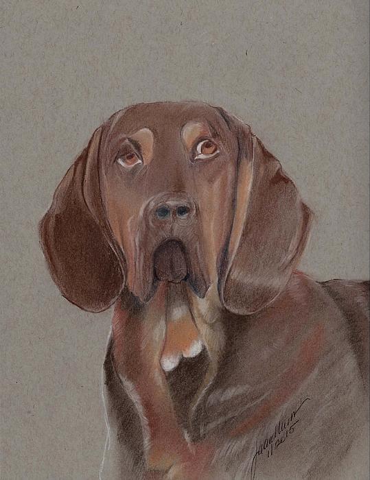 Bloodhound Pastel - Bloodhound by Joan Mansson