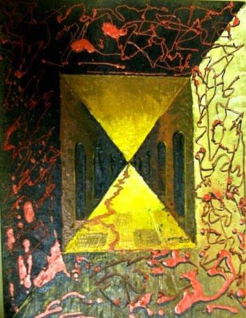 Blood Painting - Bloody Halls by Joe Santana