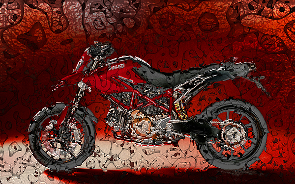 Chopper Digital Art - Bloody Italian Beauty by Radoslaw Kowzan