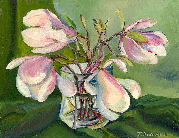 Still Life Painting - Bloom Magnolia by Tatiana Rodionova