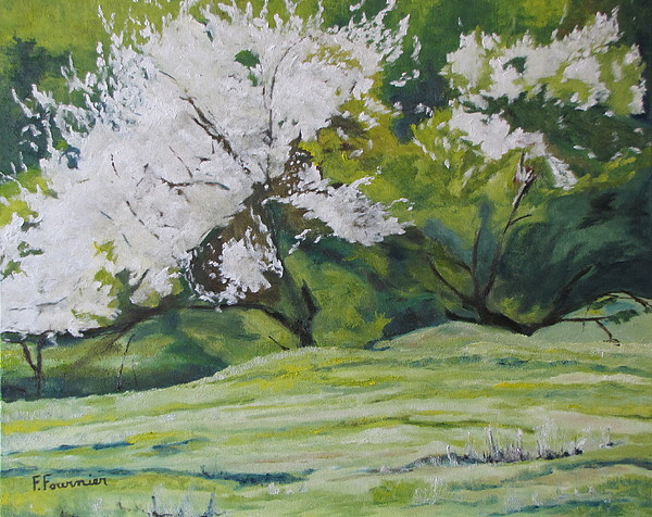 Landscape Painting - Blooming by Francois Fournier