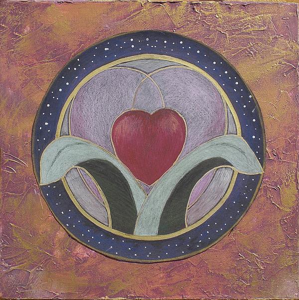 Mandalas Mixed Media - Blooming Heart Mandala by Jo Thompson