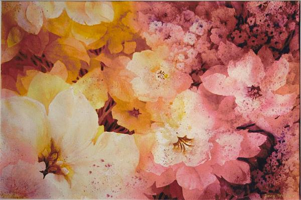 Tropical Painting - Blooms-of-summer by Nancy Newman