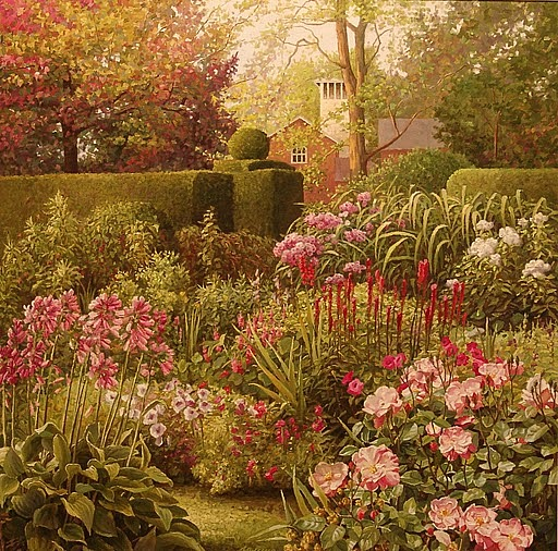 Flower Painting - Blossoming Garden by Galina Grigorovich