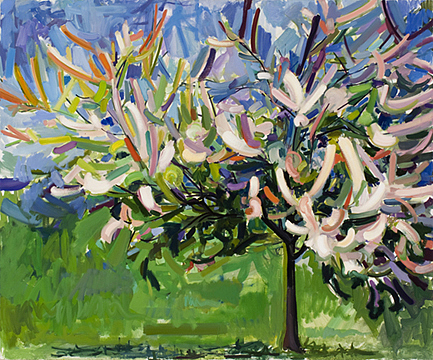 Contemporary Painting - Blossoming Tree by Dena Lyons