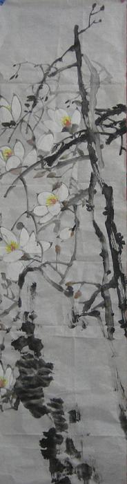 Flower Painting - Blossoms by Min Wang