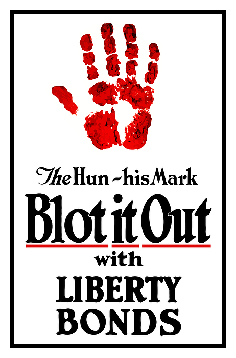 Liberty Bonds Mixed Media - Blot It Out With Liberty Bonds by War Is Hell Store