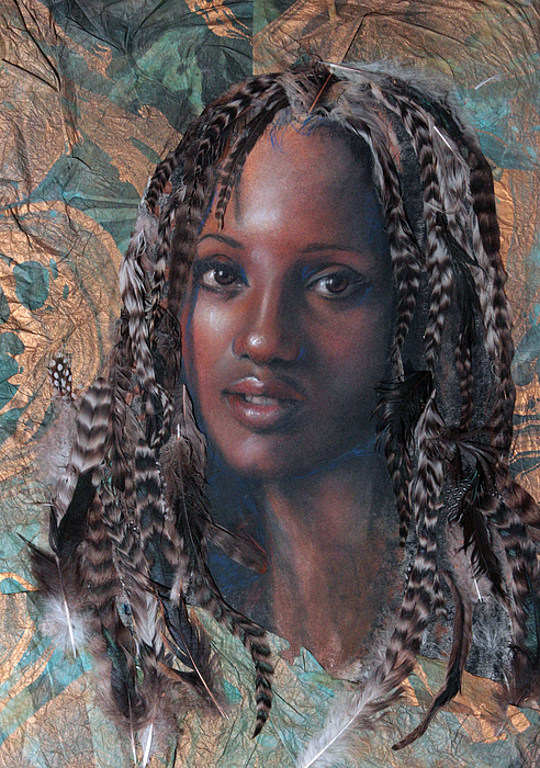 Portrait Mixed Media - Blue Angel by Gary Williams