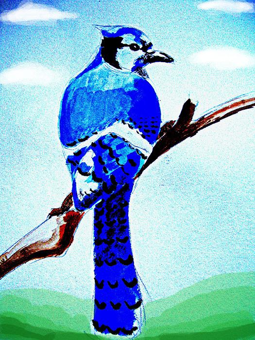 Bird Digital Art - Blue Bird by Alfredo Lozano