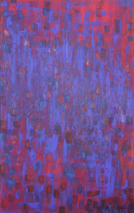 Red Paintings Painting - Blue Blue I Love You. by Tricia lee Kelshall