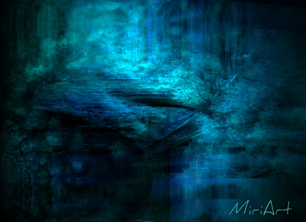 Blue Photograph - Blue Bridge Abstract by Miriam Shaw