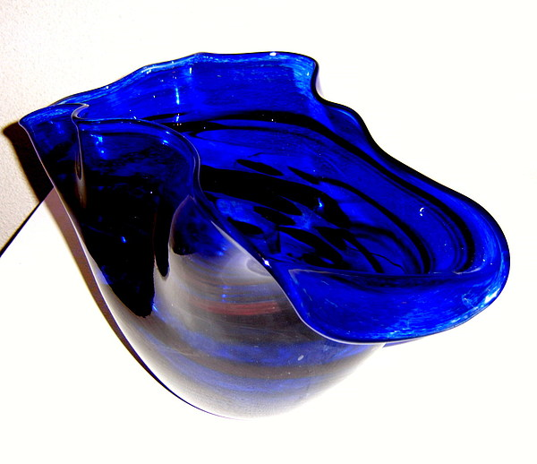 Blue Glass Art - Blue Deep by Dan Bancila