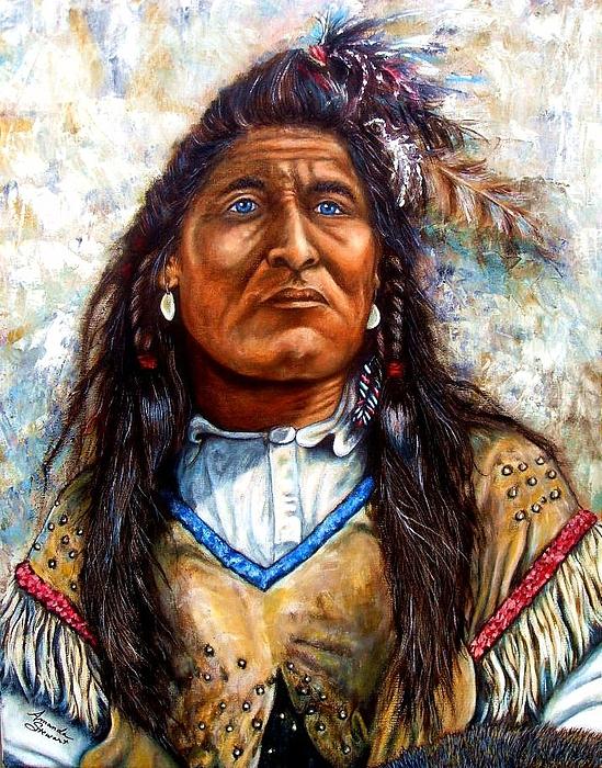 Oil Painting - Blue Eyes by Amanda Hukill