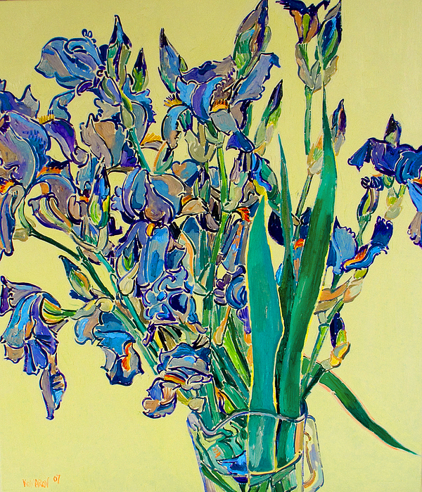 Irises Painting - Blue Irises by Vitali Komarov