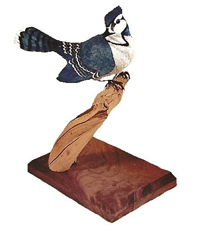 Wildlife Sculpture - Blue Jay by Peter Vaice