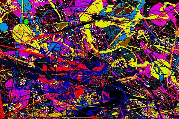Pollock Mixed Media - Blue by John Essmaker