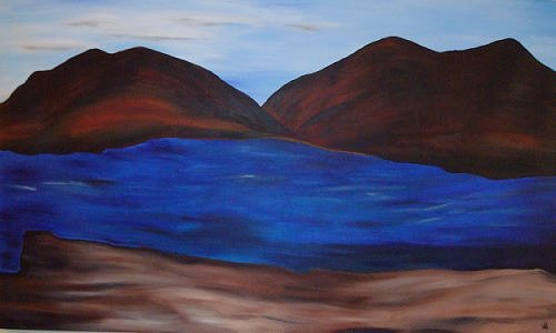 Blue Painting - Blue Lake by Al Borrego
