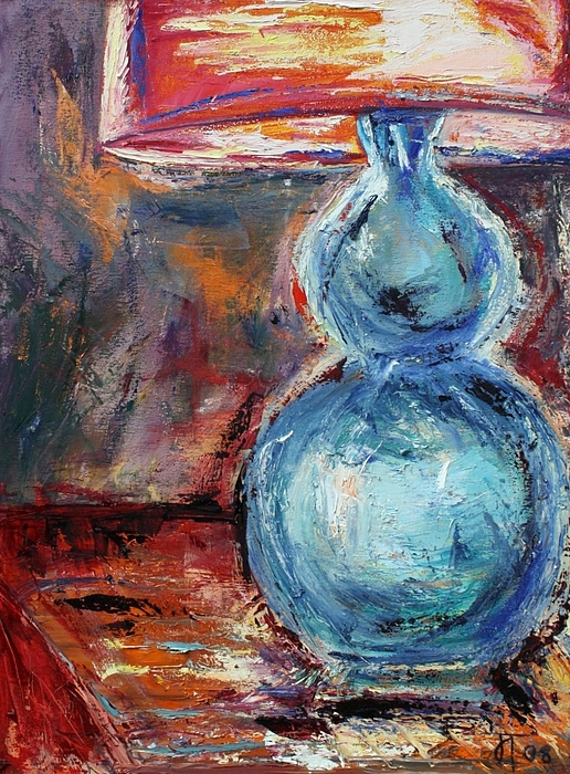 Lamp Painting - Blue Lamp by Jill Tennison