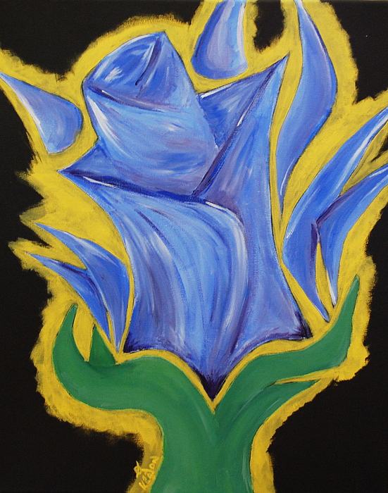 Flower Painting - Blue Life by Kayon Cox