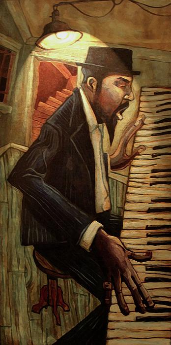 Jazz Digital Art - Blue Monk by Sean Hagan