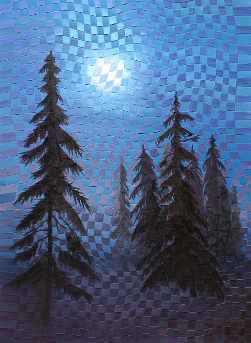 Landscape Painting - Blue Moon by Linda L Doucette
