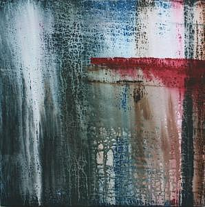 Abstract Painting - Blue N Red by Alli Royce Soble