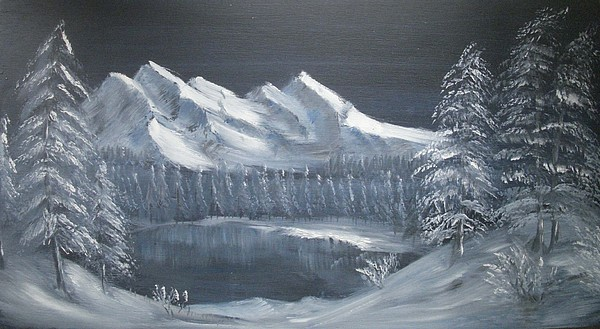 Alps Painting - Blue Night by Anthony Meton