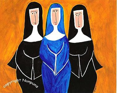 Blue Nun Painting by Michele Edsall