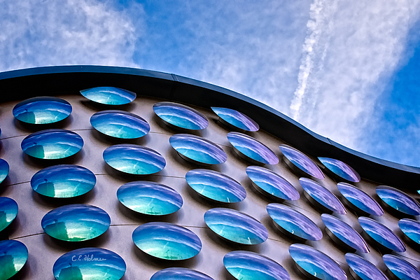 Building Photograph - Blue Polka-dot Wave by Christopher Holmes