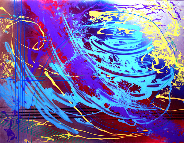 Abstract Painting - Blue Reverie by Mordecai Colodner