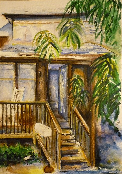 Blue Ridge Mountains Painting - Blue Ridge Cabins Blue Ridge Mountains by Lizzy Forrester