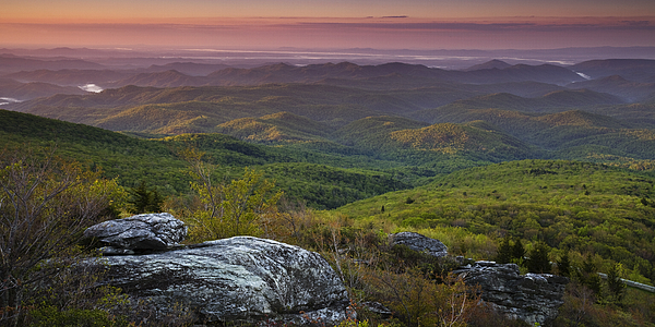 Blue Ridge Parkway Photograph - Blue Ridge Dawn Panorama by Andrew Soundarajan